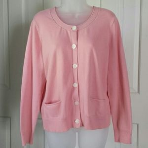 J. Jill pink button down sweater cardigan